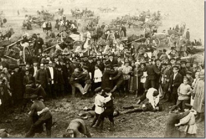 Кулачный бой в 1900-ом году.