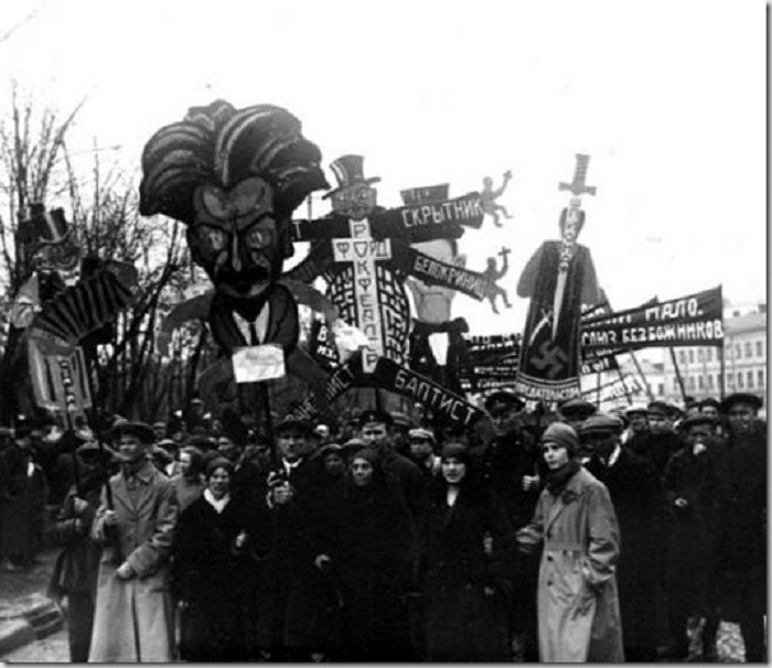 Демонстрация в 1928 году.