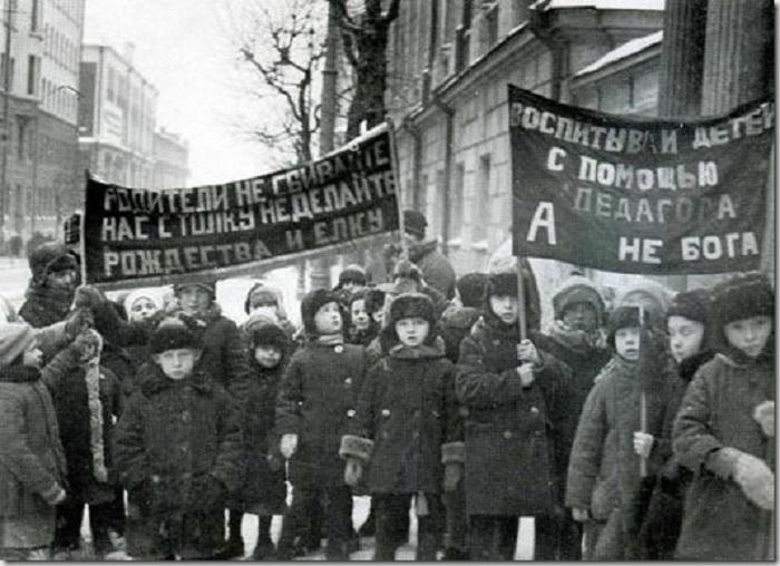Воспитанники детских садов в 1929 году.