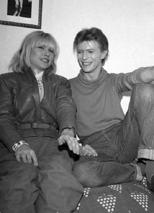 Дебби Харри и Дэвид Боуи, 1977 год.