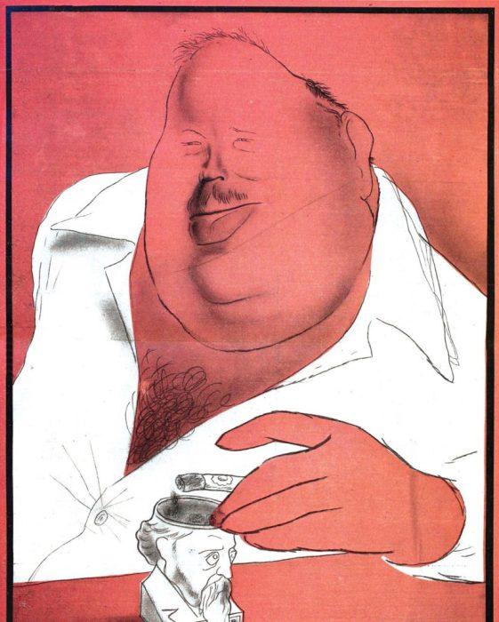 Карикатура на известного советского писателя, поэта и публициста.