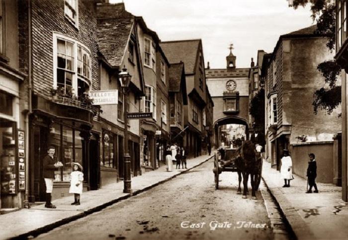 Рыночный городок. Англия, Девон, 1910-й год.