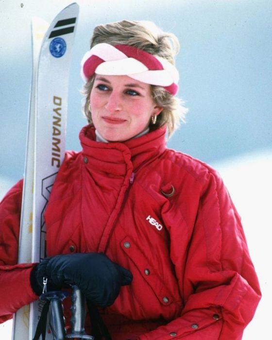 Принцесса Диана на горнолыжном курорте в Клостерс. Швейцария, 1986 год.