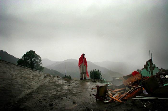 Последствия сильного урагана.