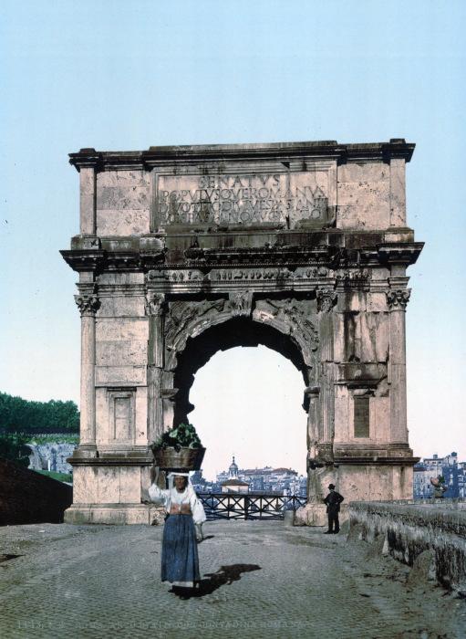 Триумфальная арка Тита на древней Священной дороге.