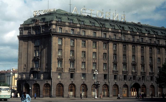Гостиница Астория. СССР, Ленинград, 1977 год.