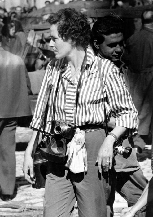 Портретная фотография Инге Морат, 1958 год.