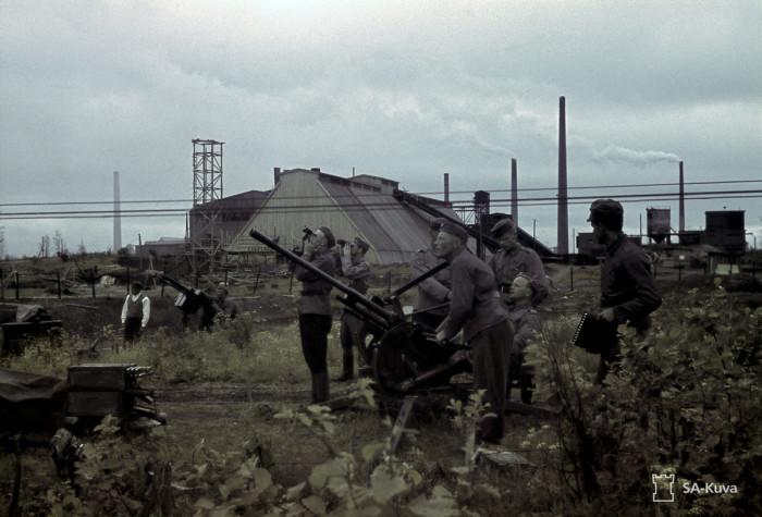 Финские 88-мм зенитки. Вуоксенлааксо, июнь 1943-го.