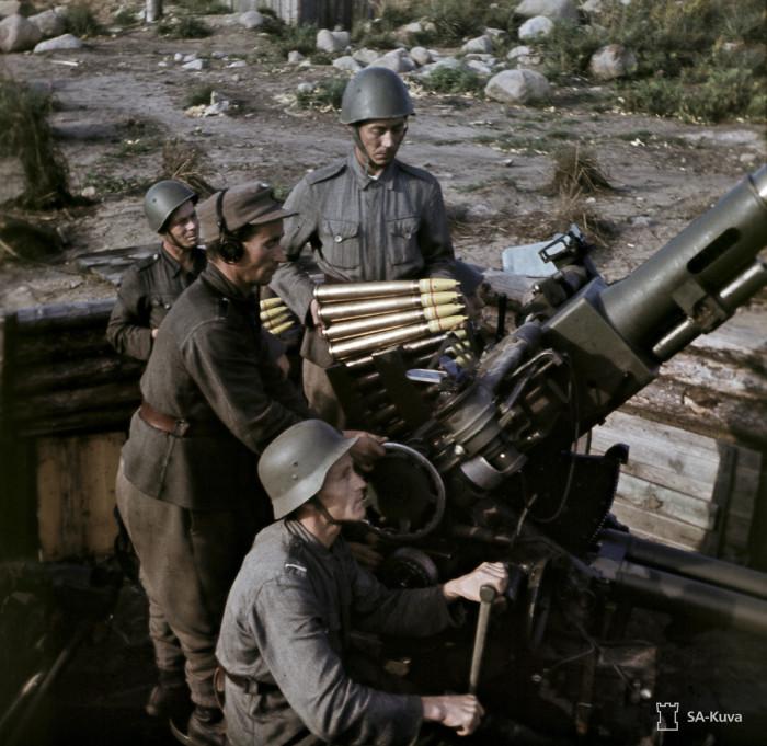 Зенитное орудие. Суулаярви, август 1943-го.