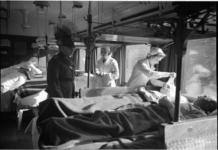 Поезд с раненными. Выборг, октябрь 1939-го.