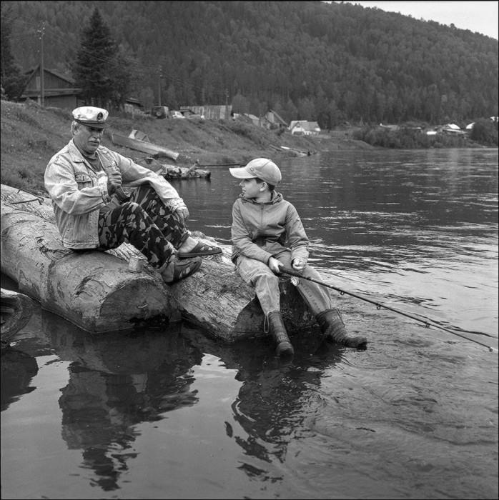 Рыбалка с дедушкой.