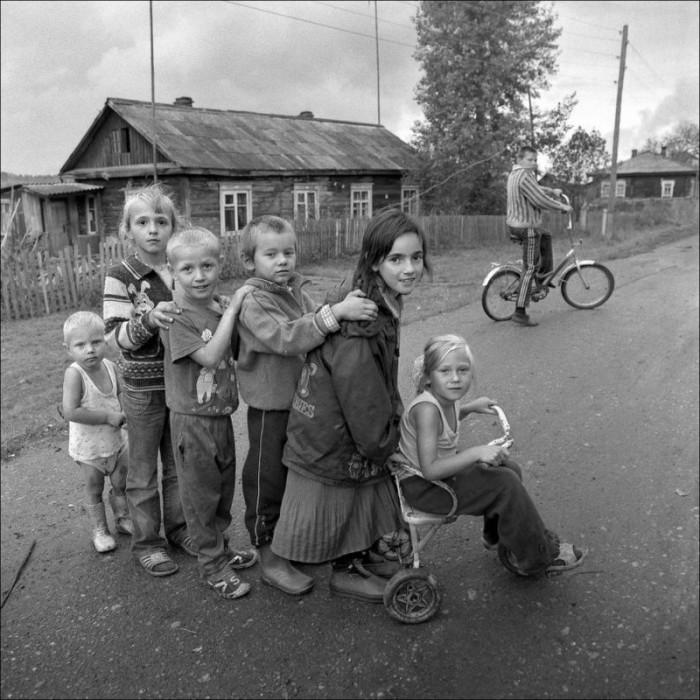 Паровоз. Красноярский край, Большемуртинский, село Российка, 2007 год.