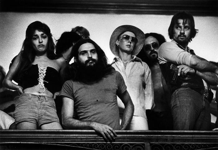Протест байкеров в здании мэрии. США, Лоуэлл, 1977 год.