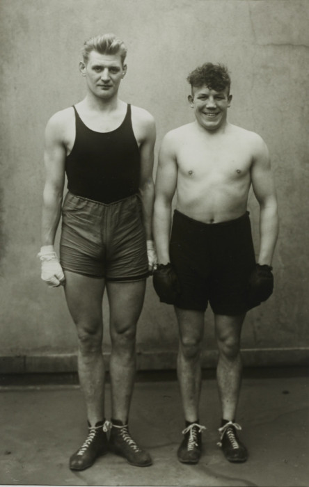 Боксёры перед финальным поединком. Германия, 1929 год.