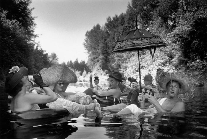 Пляжный сезон открыт. США, пригород Сиэтла, 1953 год.