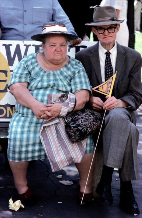 Пожилая пара в Сан-Диего. США, 1964 год.