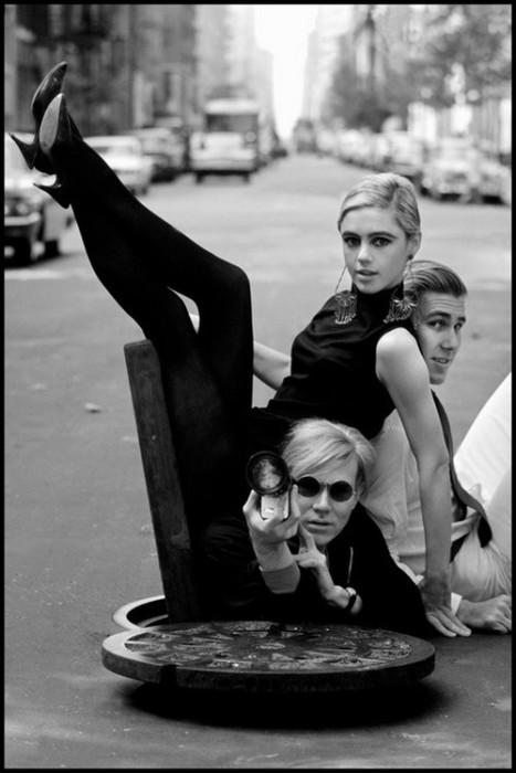 Энди Уорхол, Эди Седжвик и Чак Вейн. США, Нью-Йорк, 1965 год.