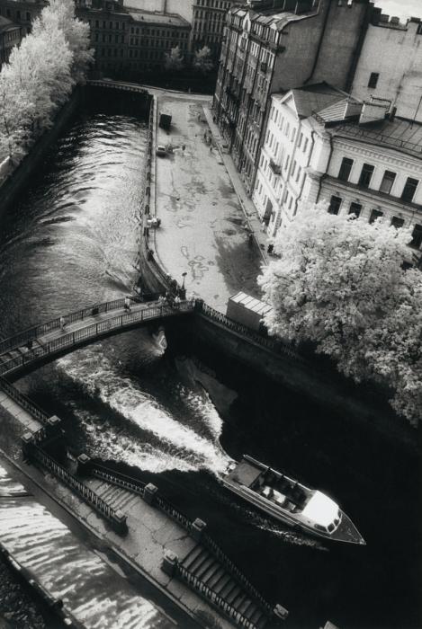 Вид из окна. СССР, Ленинград, 1975 год. Автор фотографии: Boris Smelov.