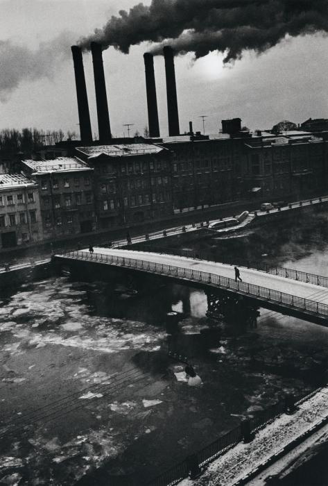 Протока дельты реки Невы. СССР, Ленинград, 1987 год. Автор фотографии: Boris Smelov.
