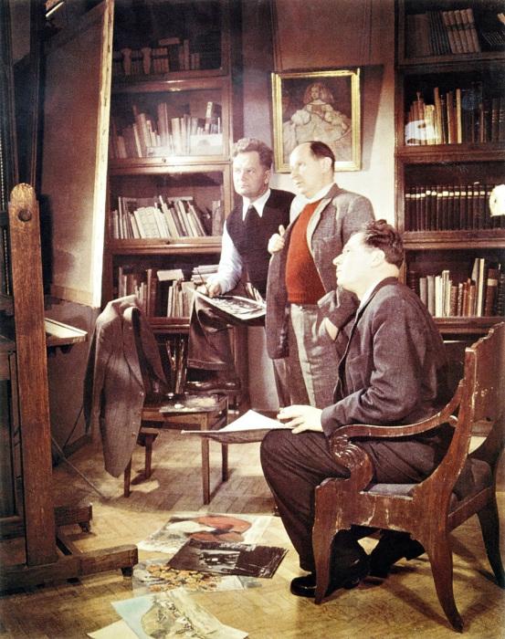Михаил Куприянов, Петр Крылов, Николай Соколов. СССР, Москва, 1950 год.