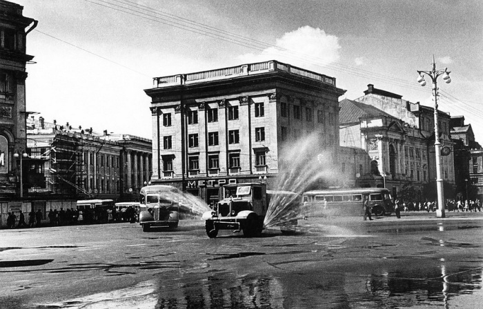Театральная площадь. СССР, Москва, 1950 год.