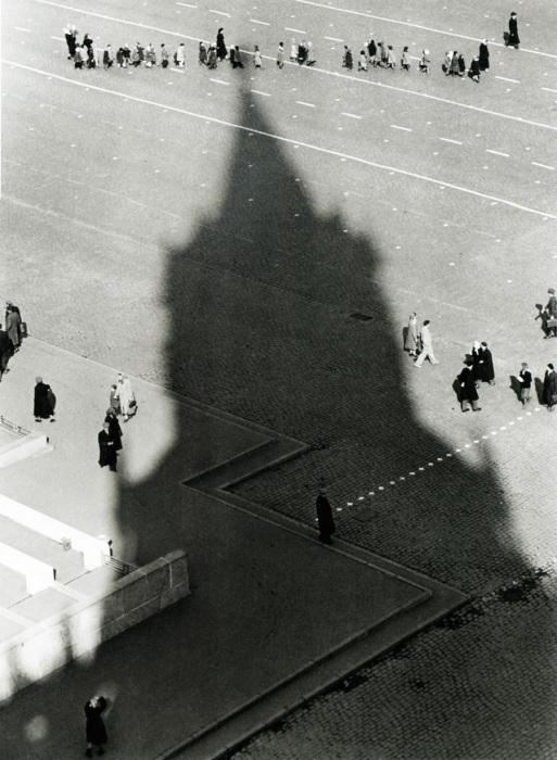 Красная площадь. СССР, Москва, 1950 год.