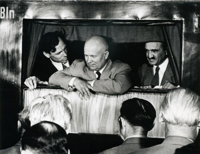 Отъезд Никиты Хрущева из ГДР, 1955 год.