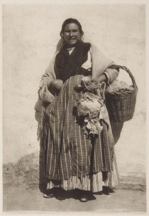 Испанская цыганка. Испания, Гранада, 1914 год.