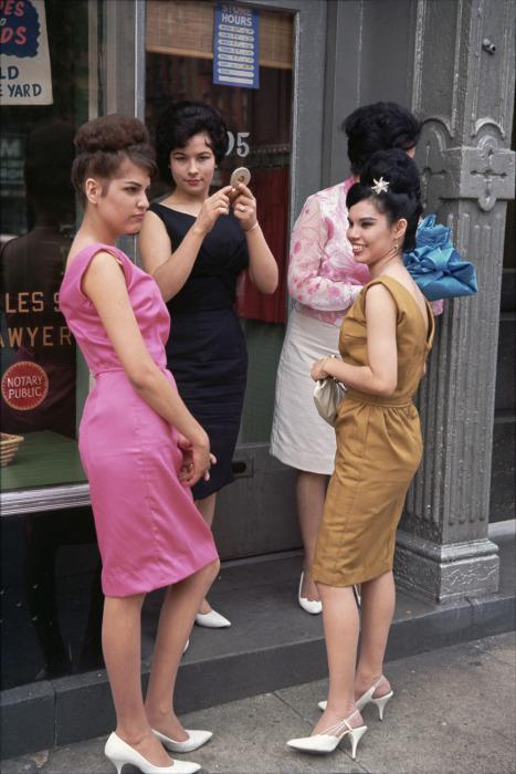 Так выглядели модницы в 60-х годах прошлого века. Америка, Нью-Йорк, 1963 год.