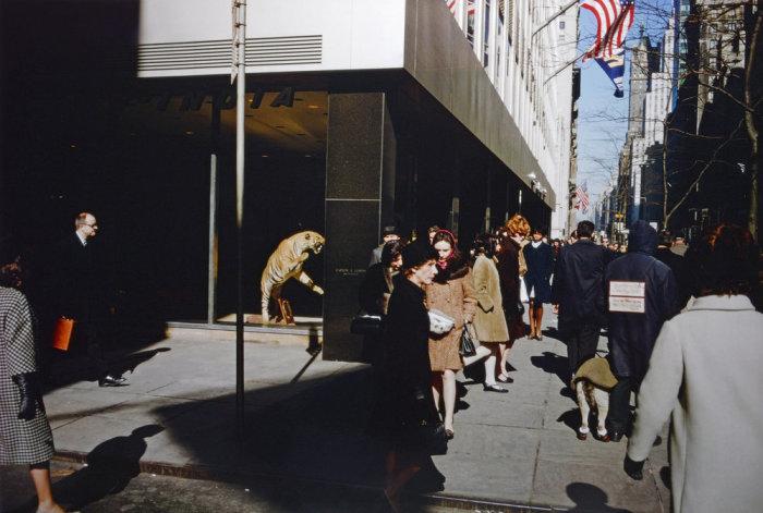 Оживлённая улица. Америка, Нью-Йорк, 1975 год.