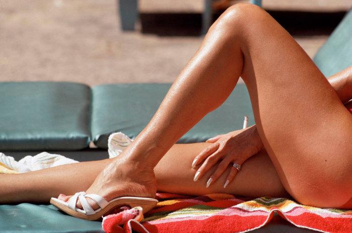 Красивые женские ножки всегда завораживали мужской взор. Соединённые Штаты Америки, Флорида, 1968 год.