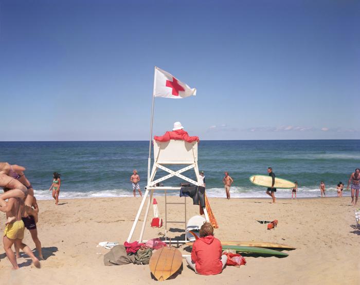 Пляжная спасательная вышка. Соединённые Штаты Америки, Труро, Массачусетс, 1976 год.