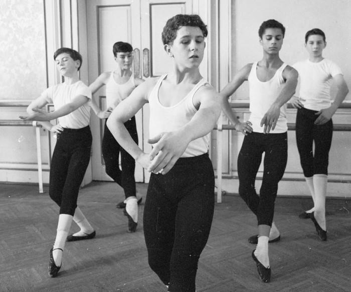 Занятия в Королевской балетной школе Уайт-Лодж, 20 февраля 1964 года.