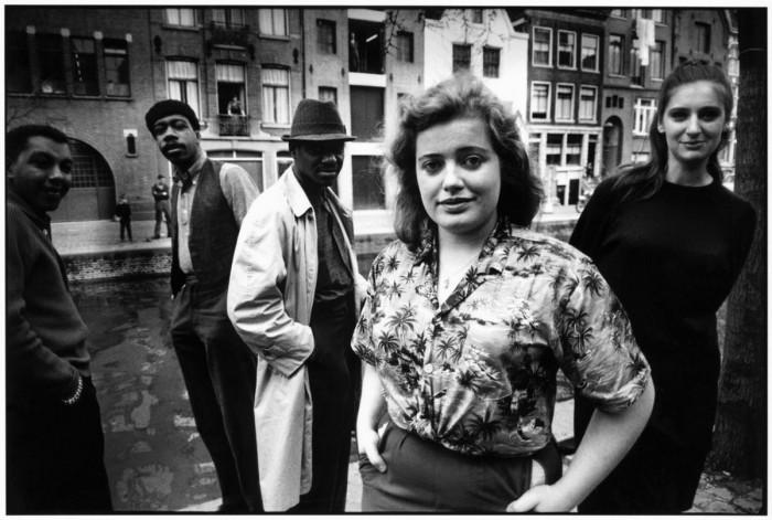 Возле канала Гроенбургвал. Амстердам, 1956 год.