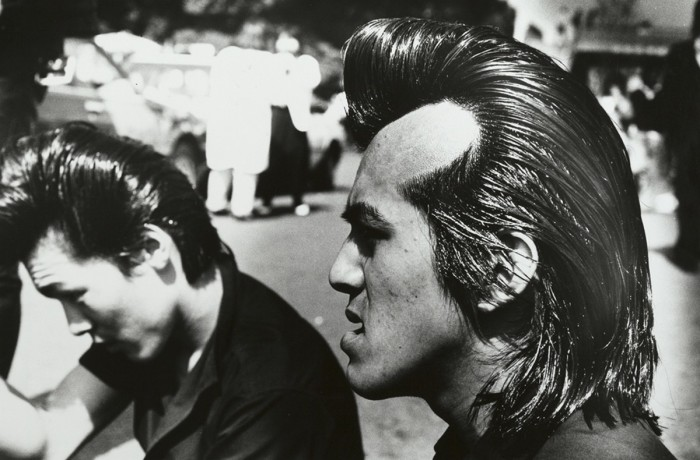 Рокеры.Квартал Харадзюку, Токио, 1983 год.