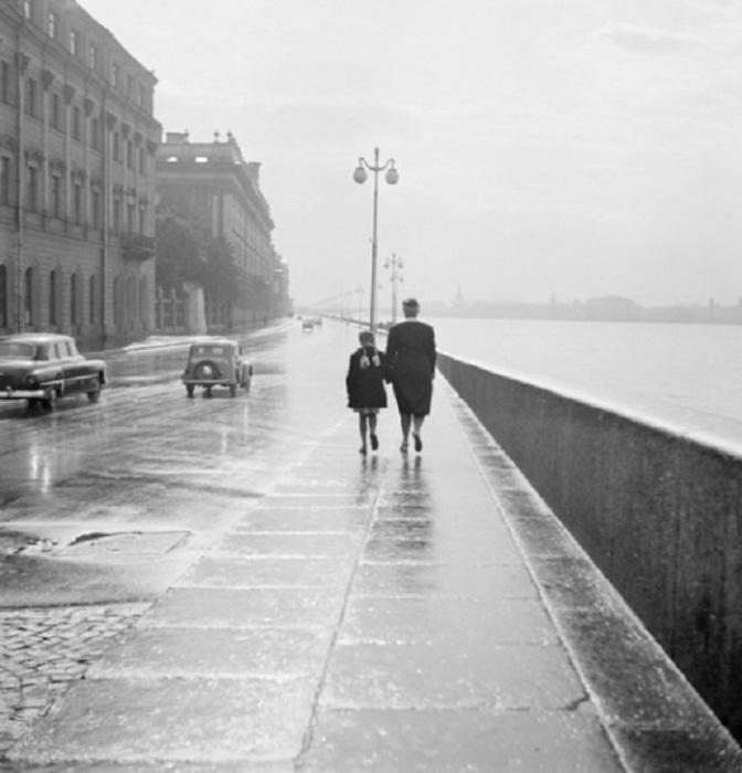 Работы русско-немецкого фотографа Эрвина Волкова. СССР, Ленинград, 1950 год.