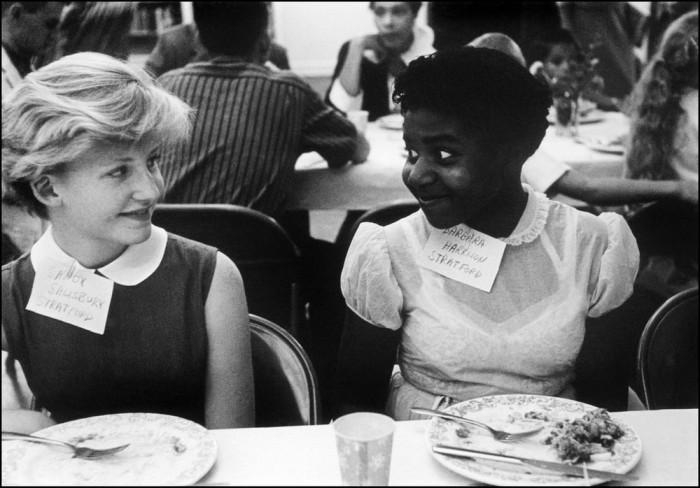 Обеденный перерыв во время конференции. Вирджиния, США, 1958 год.