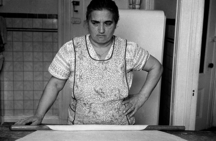 Приготовление лапши. Хобокен, Нью-Джерси, США, 1958 год.