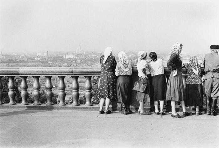 Вид на город. СССР, Москва, 1955 год.