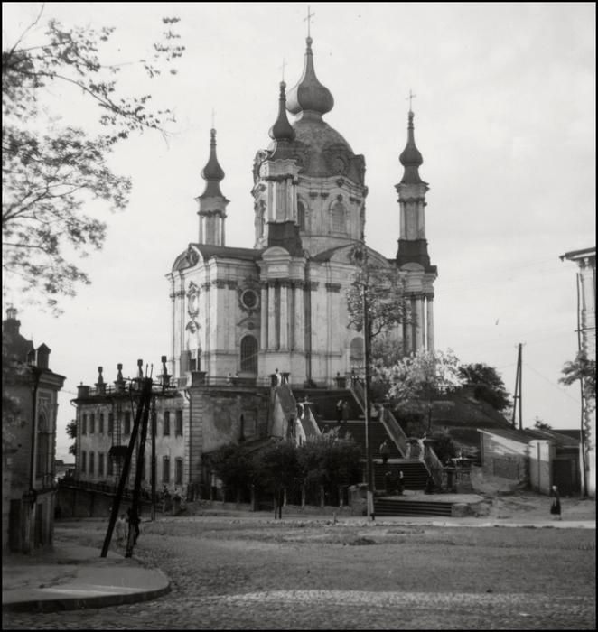 Православный храм в честь апостола Андрея Первозванного. СССР, Киев, 1943 год.