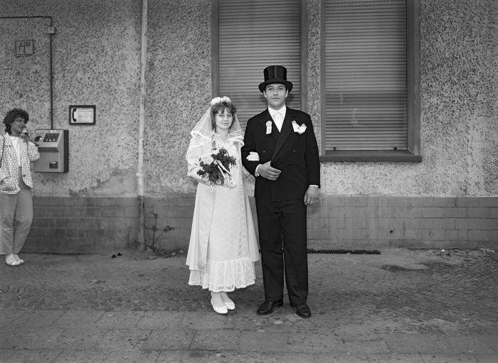 Жених и невеста, фрау и герр Дресслер.