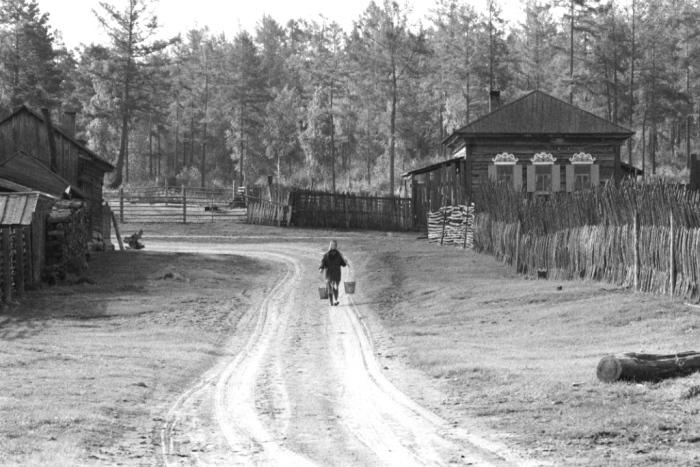 Деревня рядом с озером Байкал.