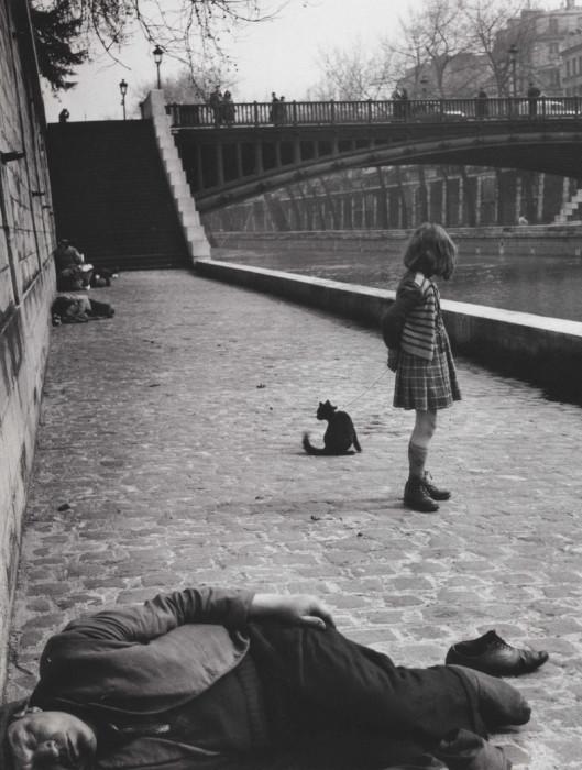 Франция, Париж, набережная Монтебелло, 1951 год.
