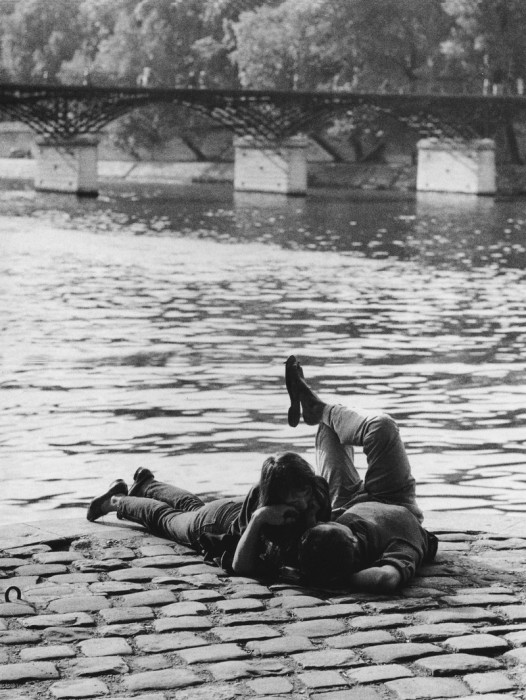 Вид на Мост Искусств, 1972 год.