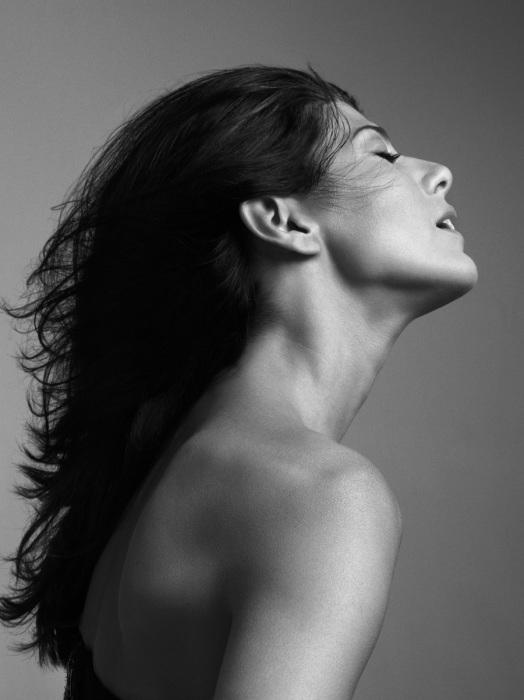 Портретная фотография американской актрисы театра и кино.