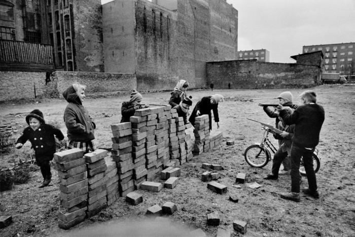 Дом с одной стеной. Германия, Западный Берлин,  1962 год.