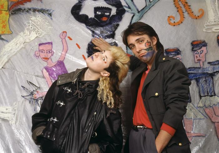 Сергей Курёхин и Джоанна Стингрей в Студии 50А, 1987 год.