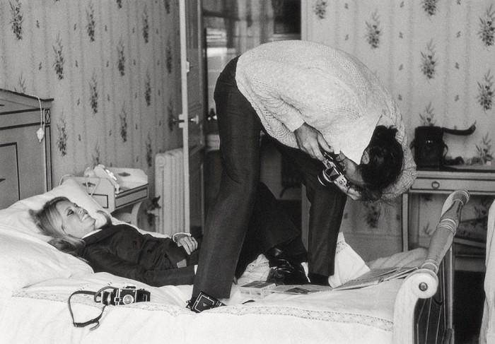 Французская актриса Бриджит Бардо и британский актер Шон Коннери во время съемок «Шалако», 1968 год.