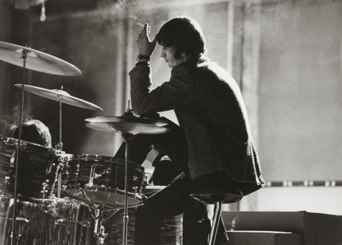 Ринго Старр в студии звукозаписи. Великобритания, Лондон, 1964 год.
