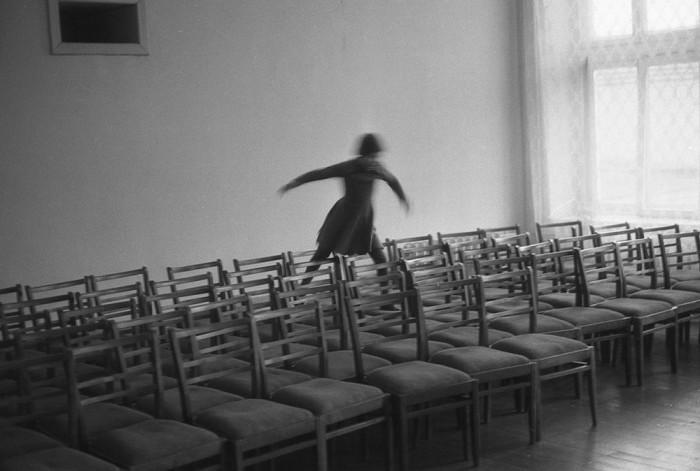 Актовый зал в детском доме №5. СССР, Новокузнецк, 1980-е годы.